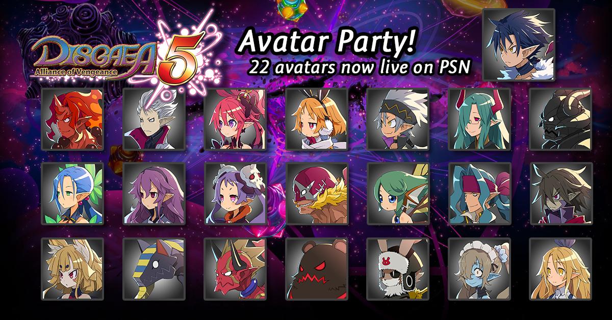 22 Disgaea 5 Avatars on PSN!